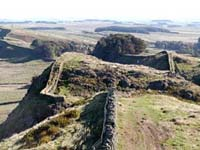 Hadrian's Wall near to Housesteads